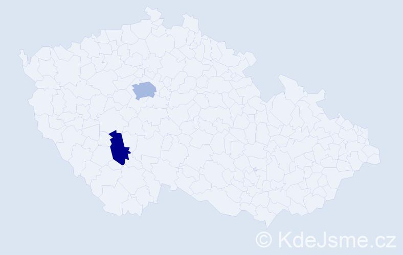 Příjmení: 'Blizničenková', počet výskytů 3 v celé ČR