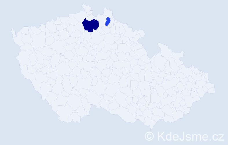 Příjmení: 'Jabálková', počet výskytů 3 v celé ČR