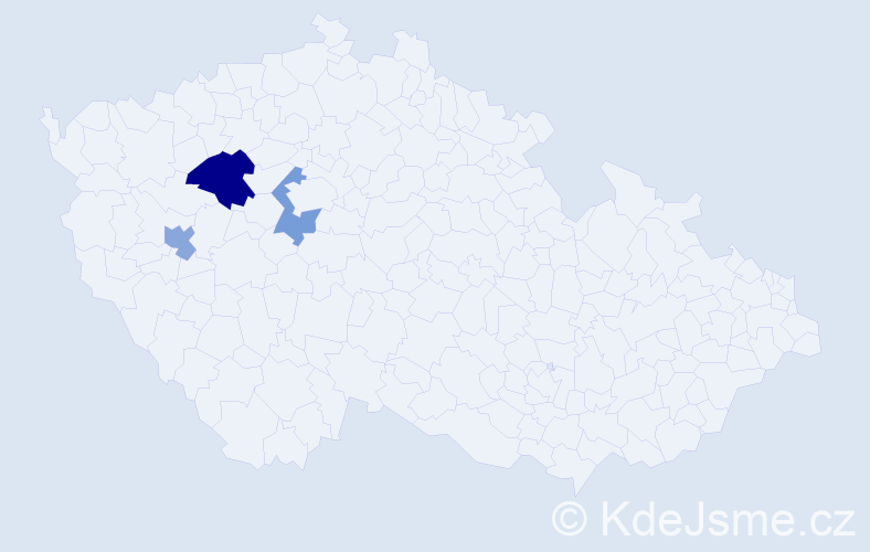 Příjmení: 'Ivanishyn', počet výskytů 4 v celé ČR