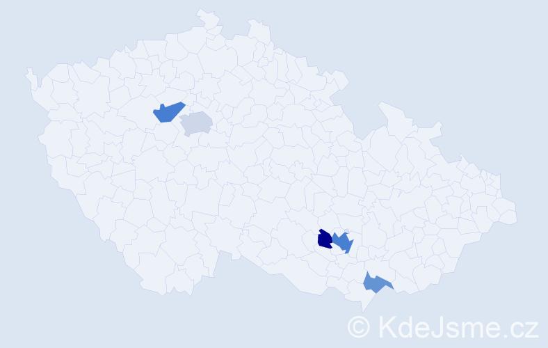 Příjmení: 'Kubovic', počet výskytů 11 v celé ČR