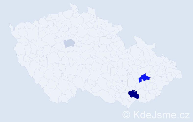 Příjmení: 'Calvert', počet výskytů 3 v celé ČR