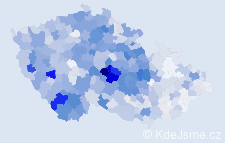 Příjmení: 'Bártová', počet výskytů 4884 v celé ČR