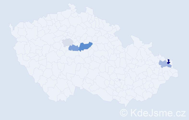 Příjmení: 'Ganobčík', počet výskytů 11 v celé ČR