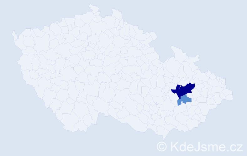 Příjmení: 'Arabčuková', počet výskytů 9 v celé ČR