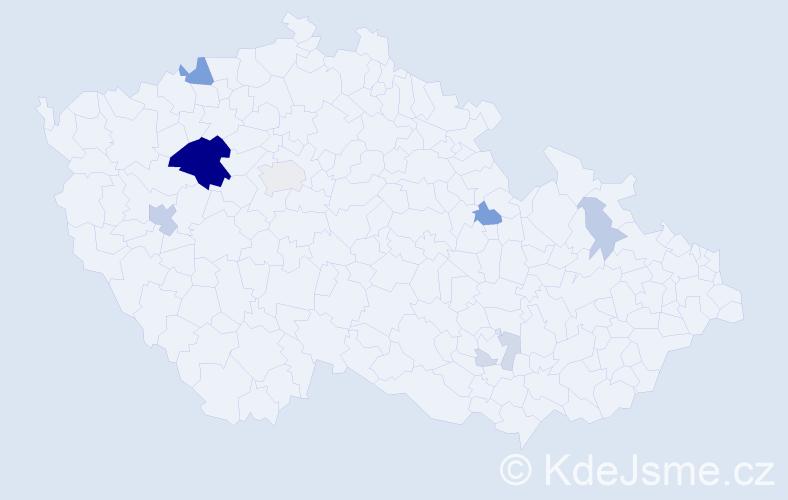 Příjmení: 'Haifler', počet výskytů 26 v celé ČR