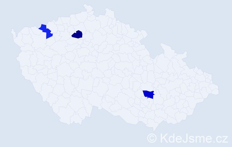 Příjmení: 'Hackett', počet výskytů 7 v celé ČR