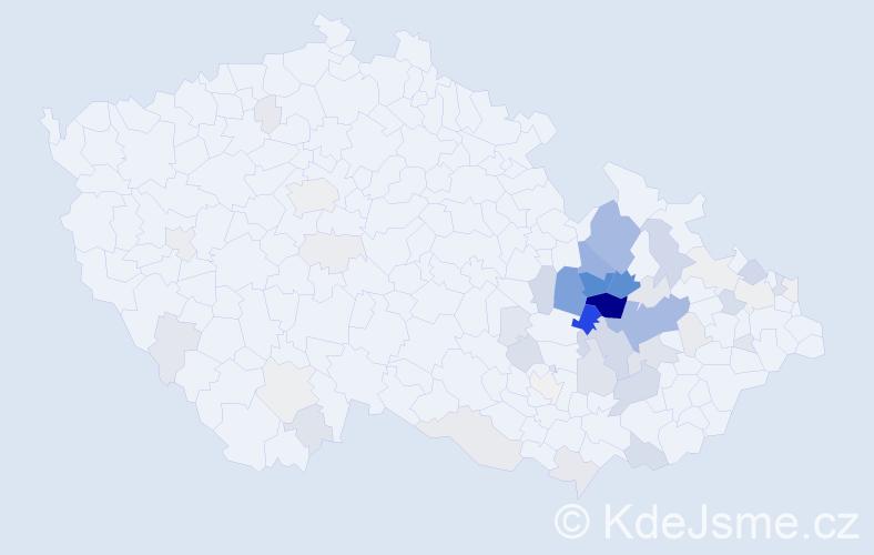 Příjmení: 'Grézl', počet výskytů 209 v celé ČR