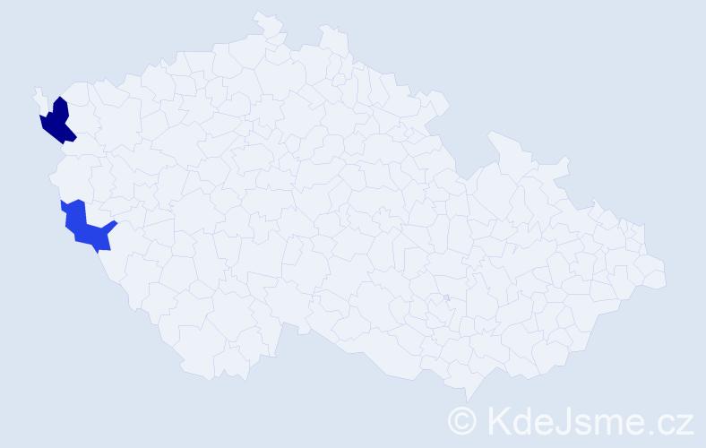 Příjmení: 'Lešický', počet výskytů 3 v celé ČR