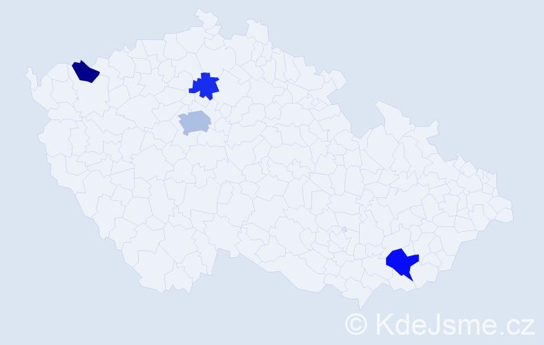 Příjmení: 'Jackiv', počet výskytů 7 v celé ČR