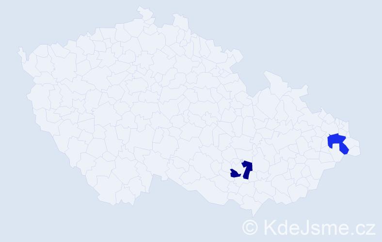 Příjmení: 'Kocmunda', počet výskytů 2 v celé ČR