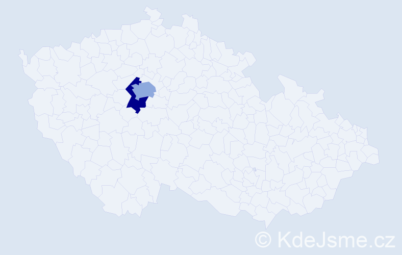 Příjmení: 'Deniger', počet výskytů 5 v celé ČR