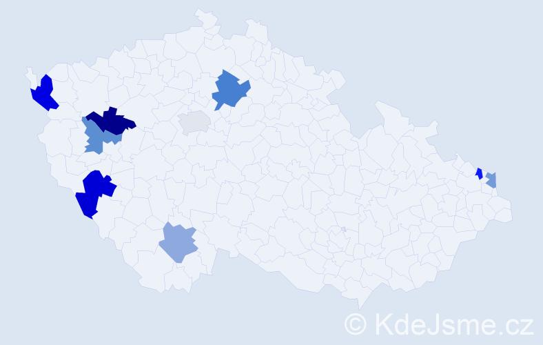 Příjmení: 'Gyüre', počet výskytů 12 v celé ČR