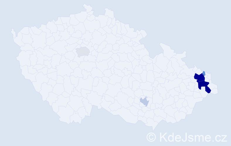 Příjmení: 'Bortlíčková', počet výskytů 28 v celé ČR