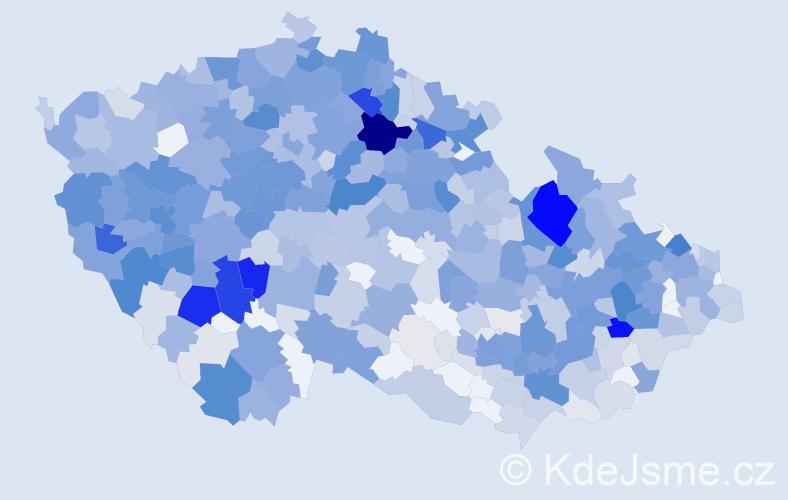 Příjmení: 'Kozáková', počet výskytů 3688 v celé ČR