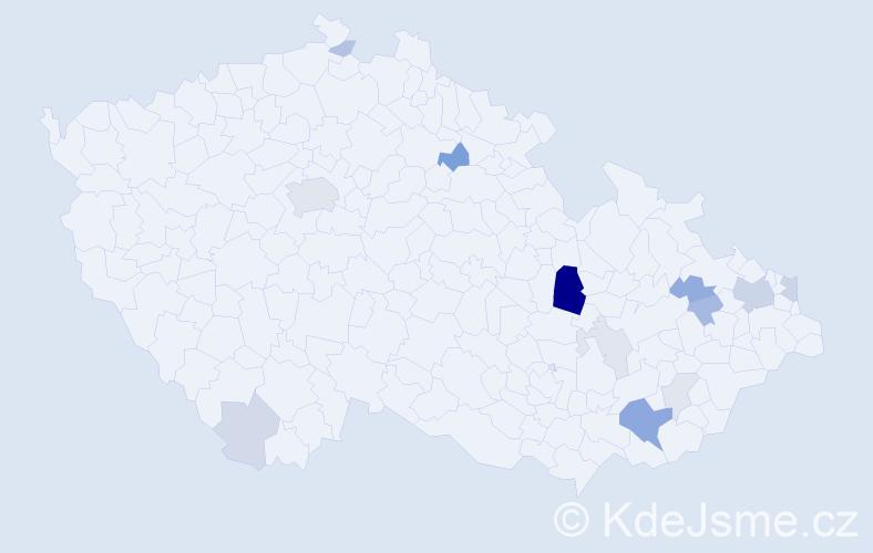Příjmení: 'Elfmark', počet výskytů 40 v celé ČR
