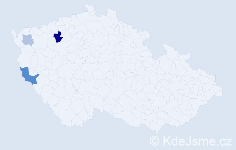 Příjmení: 'Csingerová', počet výskytů 6 v celé ČR