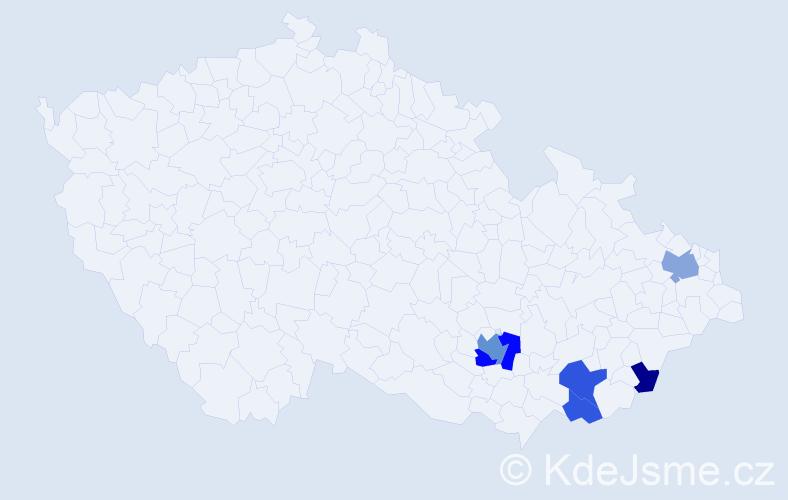 Příjmení: 'Bžatek', počet výskytů 12 v celé ČR