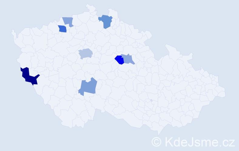 Příjmení: 'Bábovka', počet výskytů 14 v celé ČR
