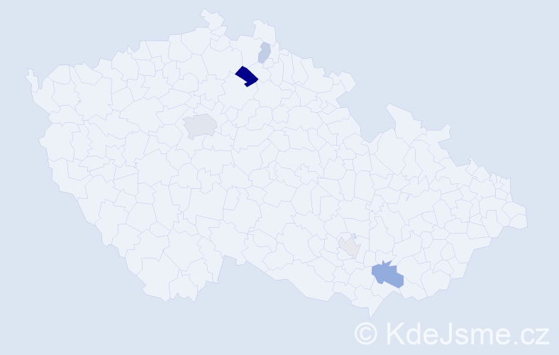 Příjmení: 'Eysseltová', počet výskytů 11 v celé ČR