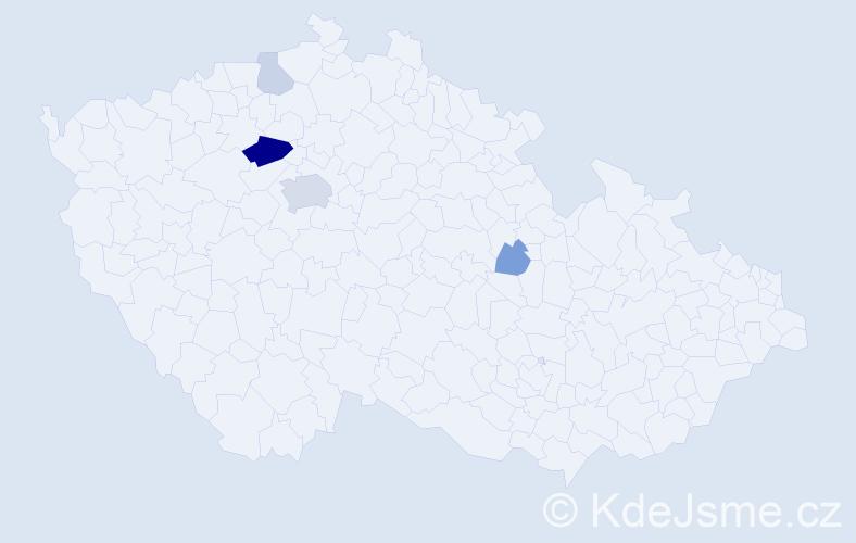 Příjmení: 'Chamas', počet výskytů 12 v celé ČR