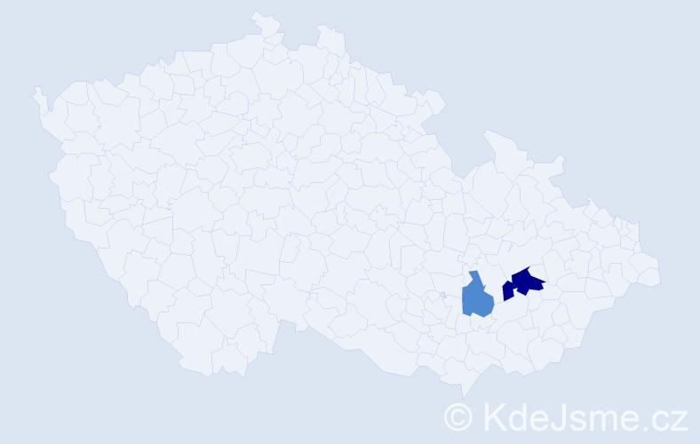Příjmení: 'Ivoňák', počet výskytů 4 v celé ČR