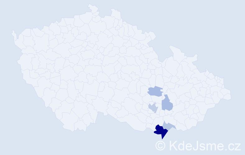 Příjmení: 'Barančic', počet výskytů 14 v celé ČR