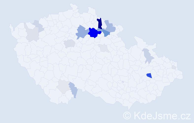 Příjmení: 'Hubálovská', počet výskytů 51 v celé ČR