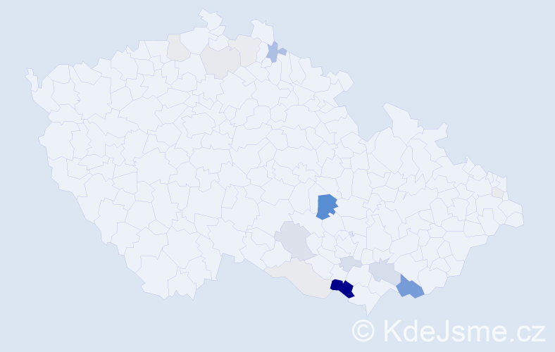 Příjmení: 'Huserek', počet výskytů 39 v celé ČR