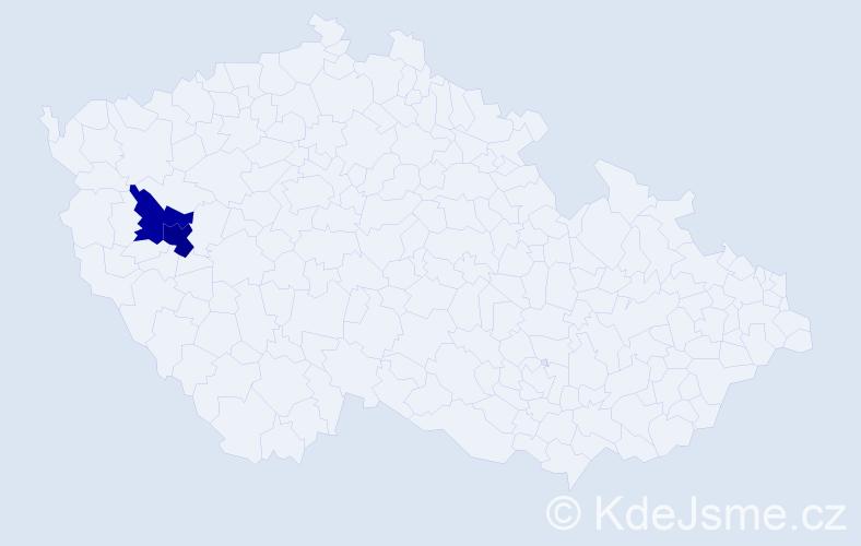 Příjmení: 'Jaren', počet výskytů 7 v celé ČR