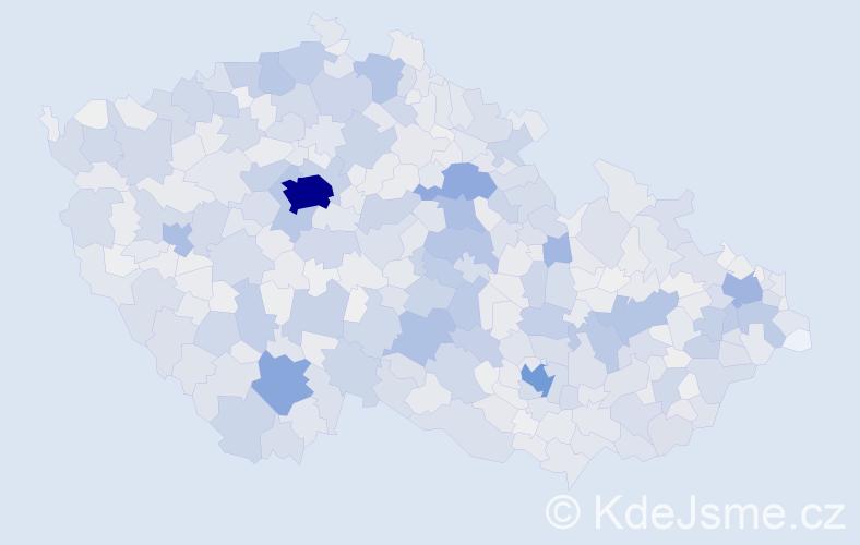 Příjmení: 'Marek', počet výskytů 10843 v celé ČR