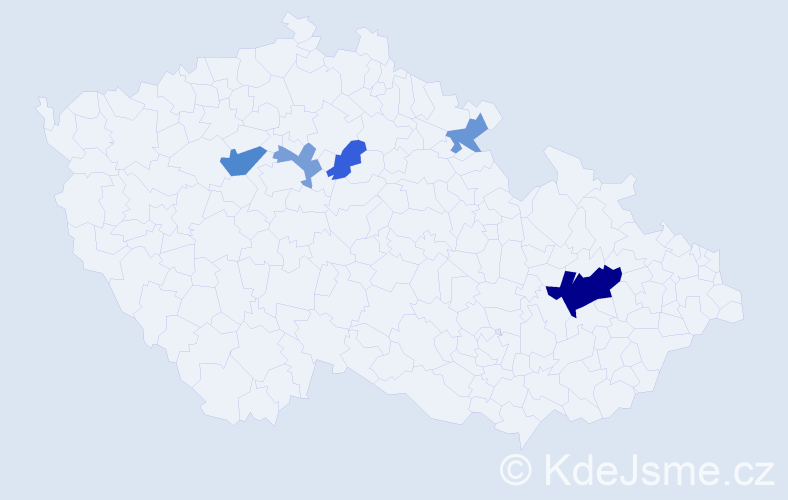 Příjmení: 'Gordová', počet výskytů 10 v celé ČR