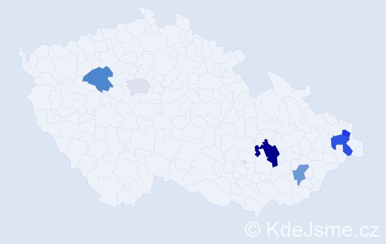 Příjmení: 'Cíbik', počet výskytů 10 v celé ČR