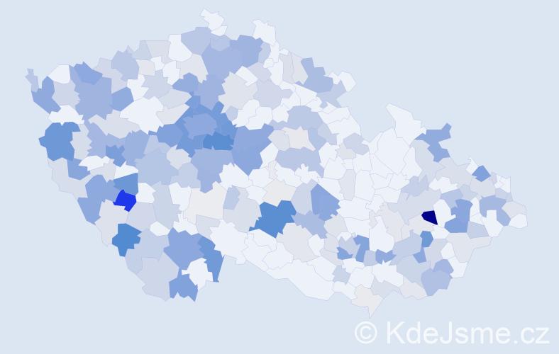 Příjmení: 'Kliment', počet výskytů 883 v celé ČR