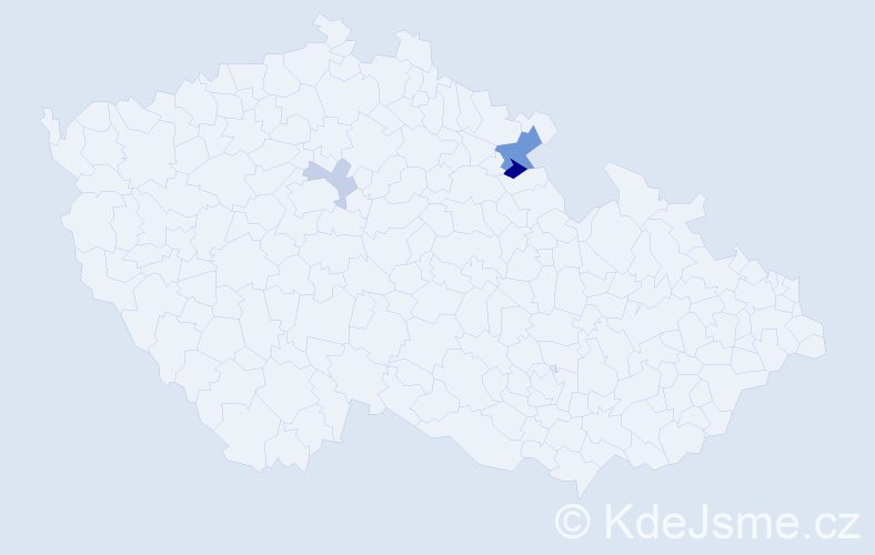 Příjmení: 'Barica', počet výskytů 6 v celé ČR