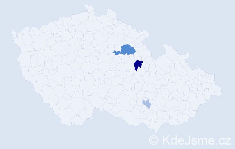 Příjmení: 'Ellová', počet výskytů 7 v celé ČR