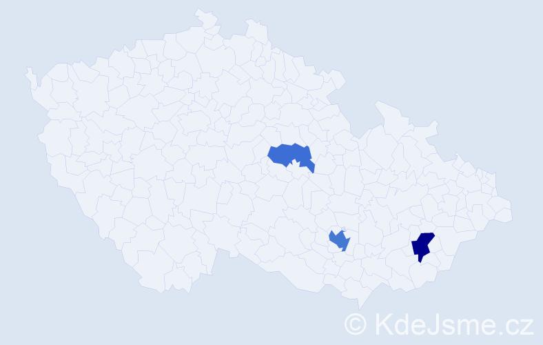 Příjmení: 'Derbek', počet výskytů 6 v celé ČR