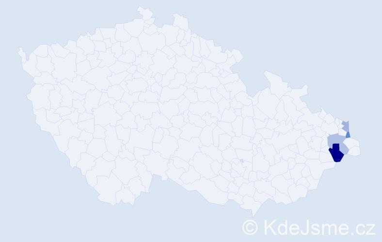Příjmení: 'Lekač', počet výskytů 10 v celé ČR