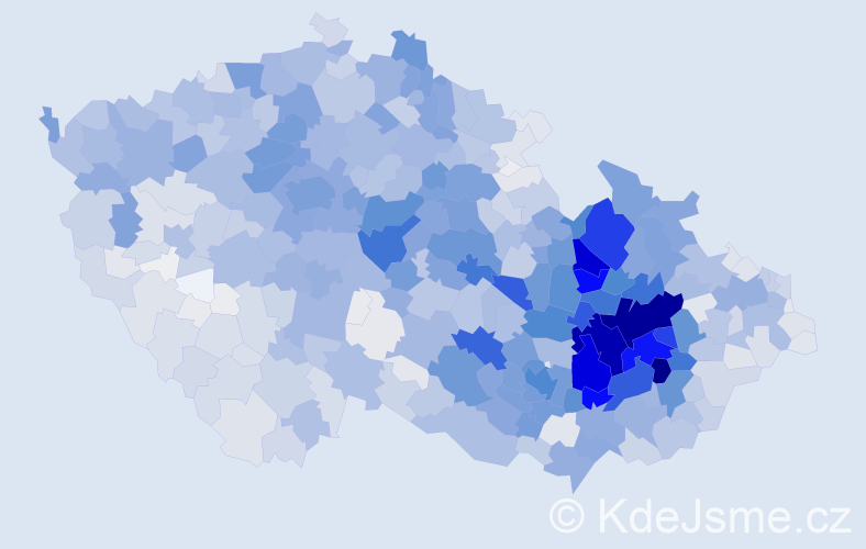 Příjmení: 'Pospíšilová', počet výskytů 11221 v celé ČR