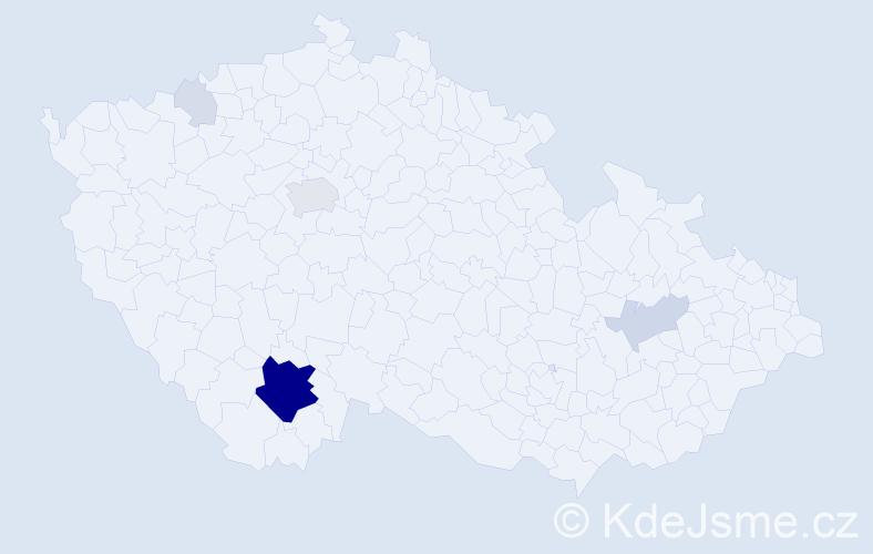 Příjmení: 'Jauker', počet výskytů 33 v celé ČR