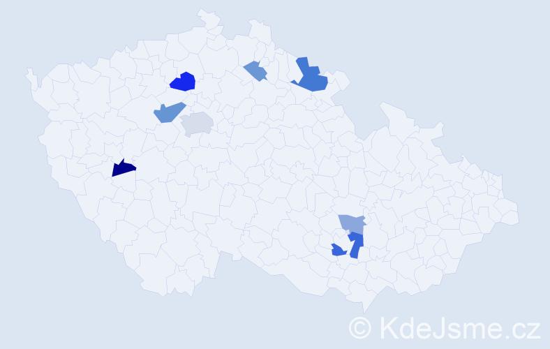 Příjmení: 'Jeschke', počet výskytů 17 v celé ČR