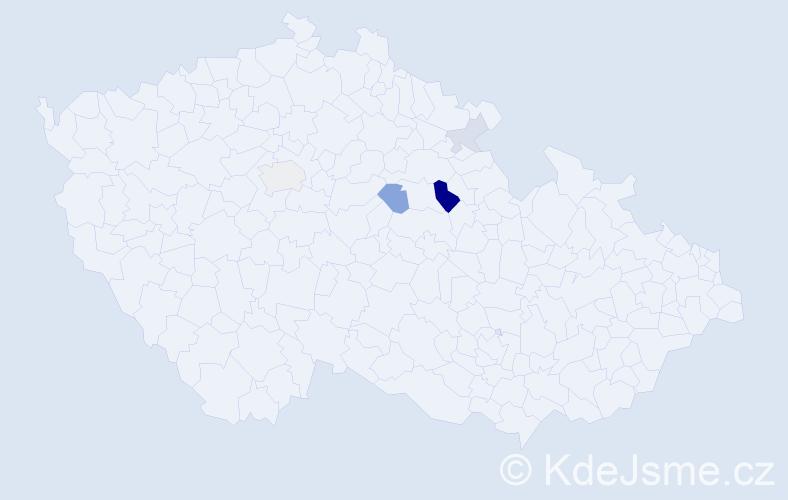 Příjmení: 'Laposa', počet výskytů 11 v celé ČR