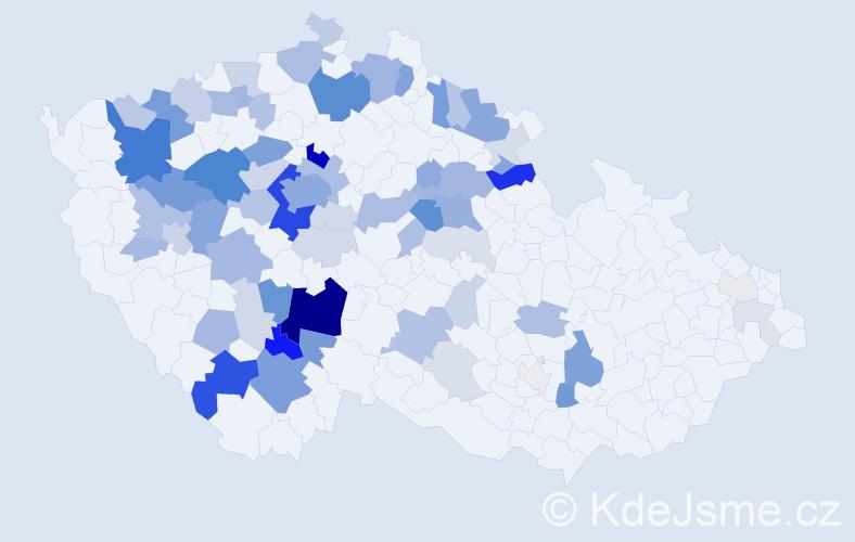 Příjmení: 'Fábera', počet výskytů 240 v celé ČR