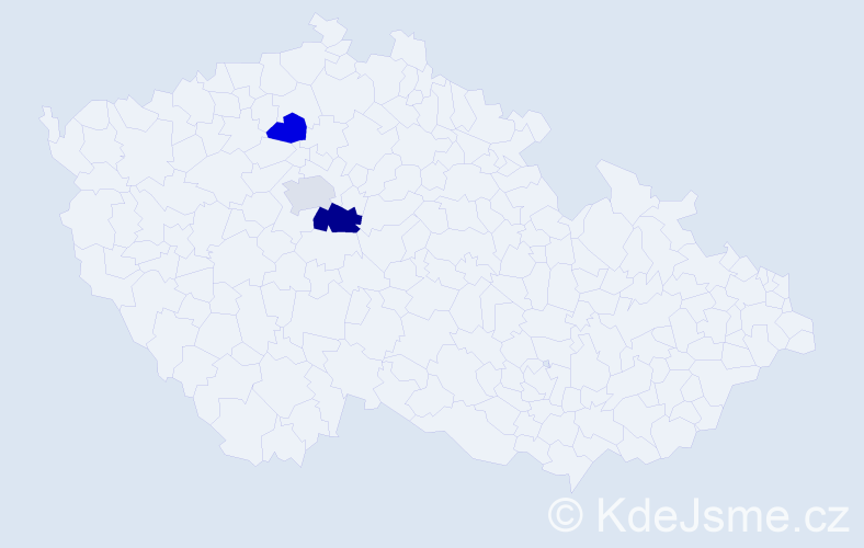 Příjmení: 'Kačanyi', počet výskytů 4 v celé ČR