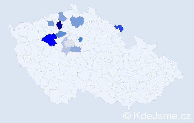 Příjmení: 'Dekoj', počet výskytů 41 v celé ČR
