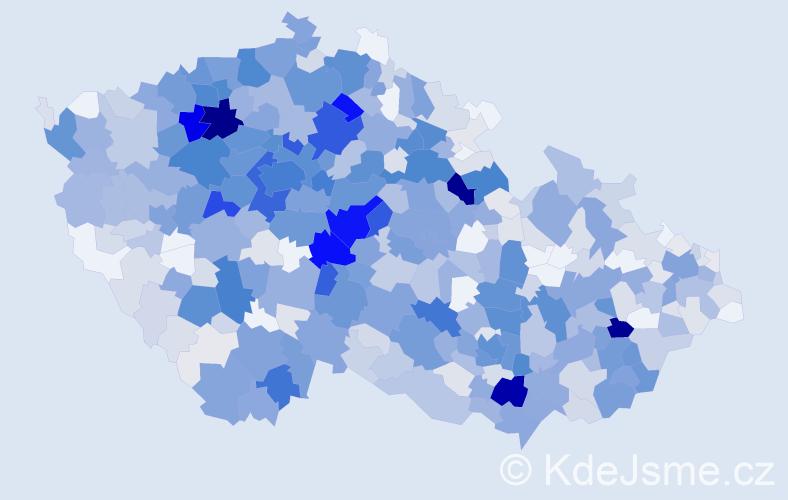 Příjmení: 'Charvátová', počet výskytů 2971 v celé ČR