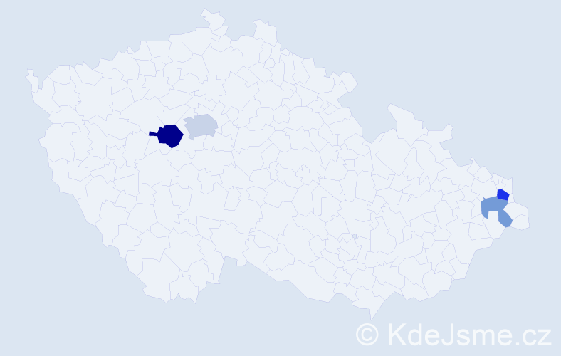 Příjmení: 'Čoros', počet výskytů 7 v celé ČR