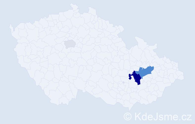 Příjmení: 'Copek', počet výskytů 6 v celé ČR