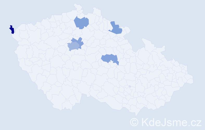 Příjmení: 'Česeneková', počet výskytů 11 v celé ČR
