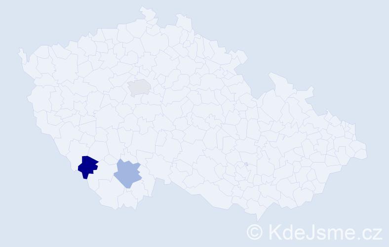 Příjmení: 'Hryzbyl', počet výskytů 3 v celé ČR