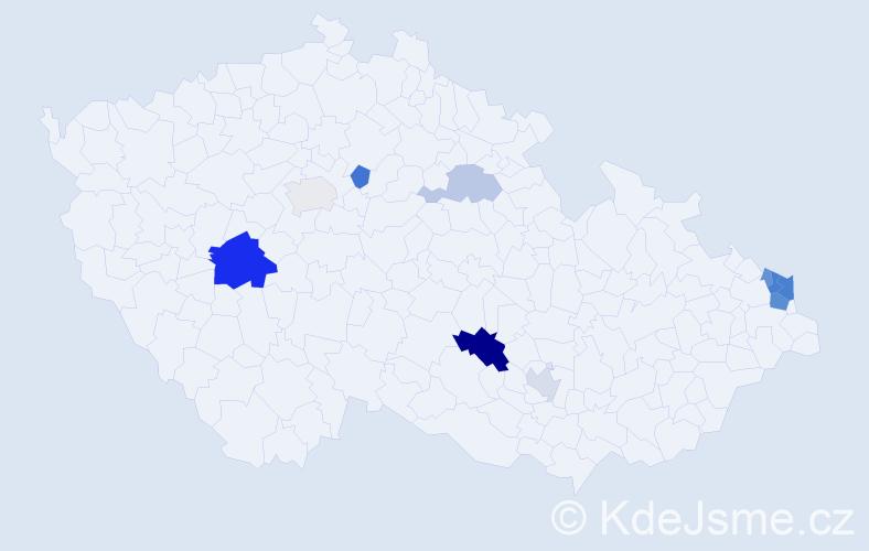 Příjmení: 'Čižmarik', počet výskytů 20 v celé ČR